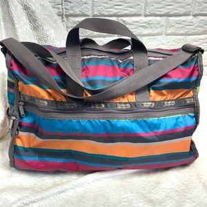 Lesportsac multicolored stripe large tote